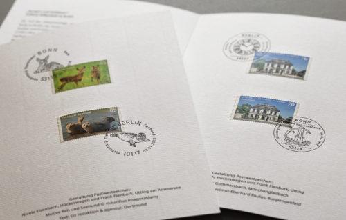 Drei neue Briefmarken erscheinen im Januar 2018